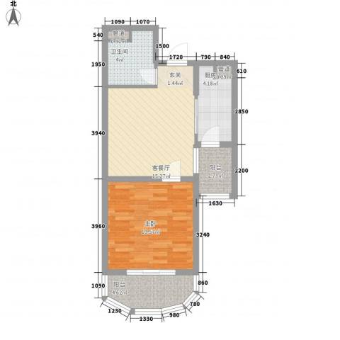 马赛公寓1室1厅1卫1厨67.00㎡户型图