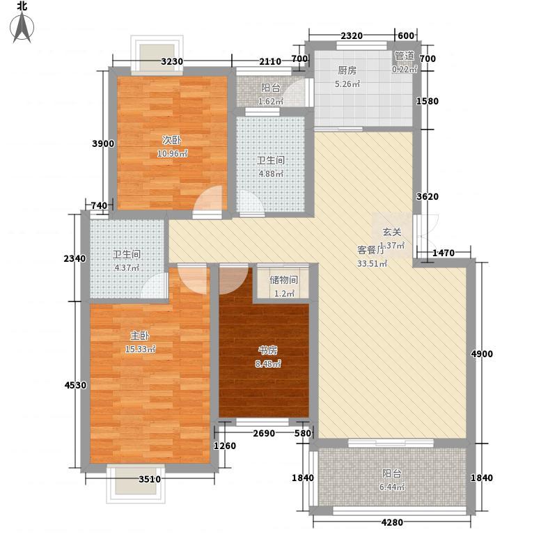 中大紫都114.20㎡简约豪华户型3室2厅2卫1厨
