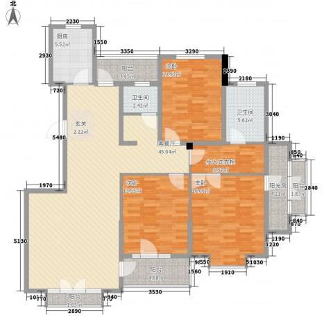 警院小区3室1厅2卫1厨173.00㎡户型图