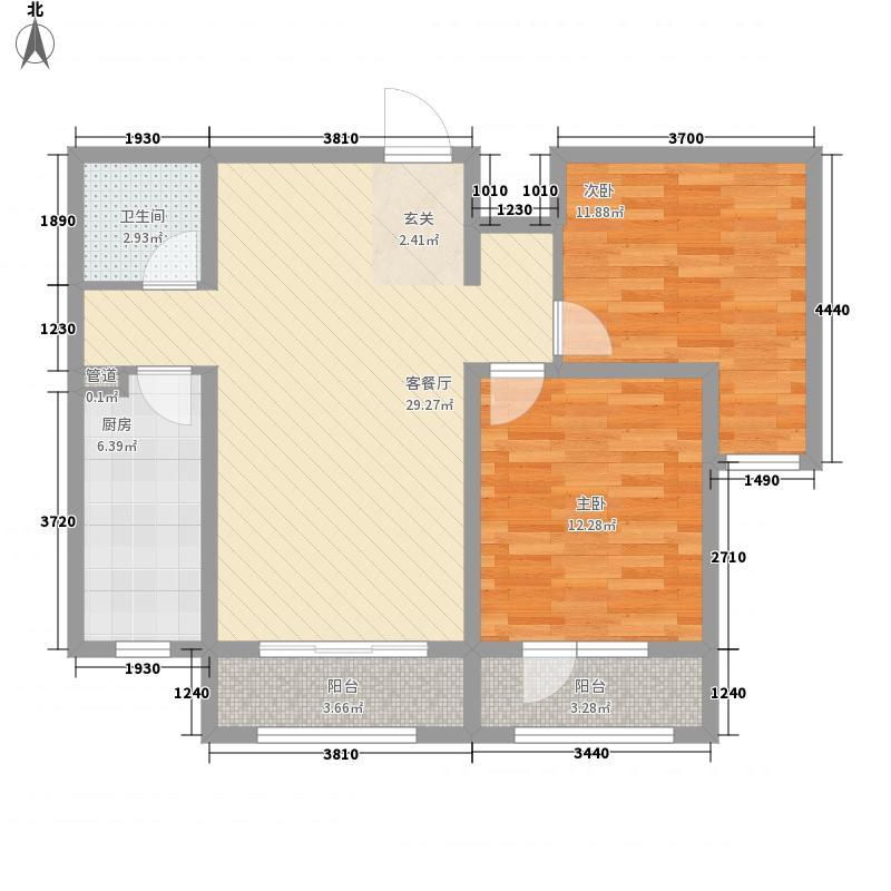 花香漫城99.00㎡花香漫城户型图4#F-99平米2室2厅1卫1厨户型2室2厅1卫1厨