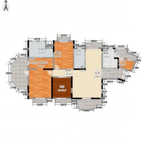 保利林语山庄3室1厅2卫1厨177.00㎡户型图