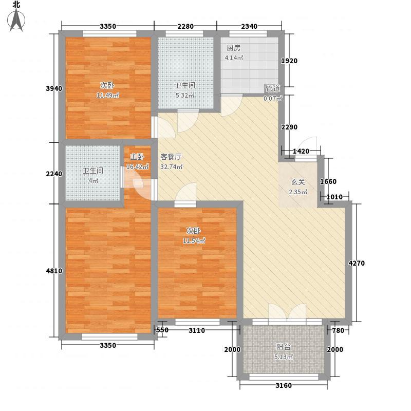雅阁花园87.00㎡雅阁花园户型图户型图3室2厅2卫1厨户型3室2厅2卫1厨