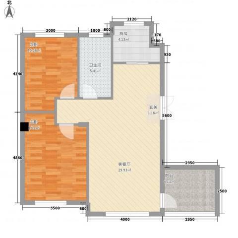 宏昌公寓2室1厅1卫1厨98.00㎡户型图