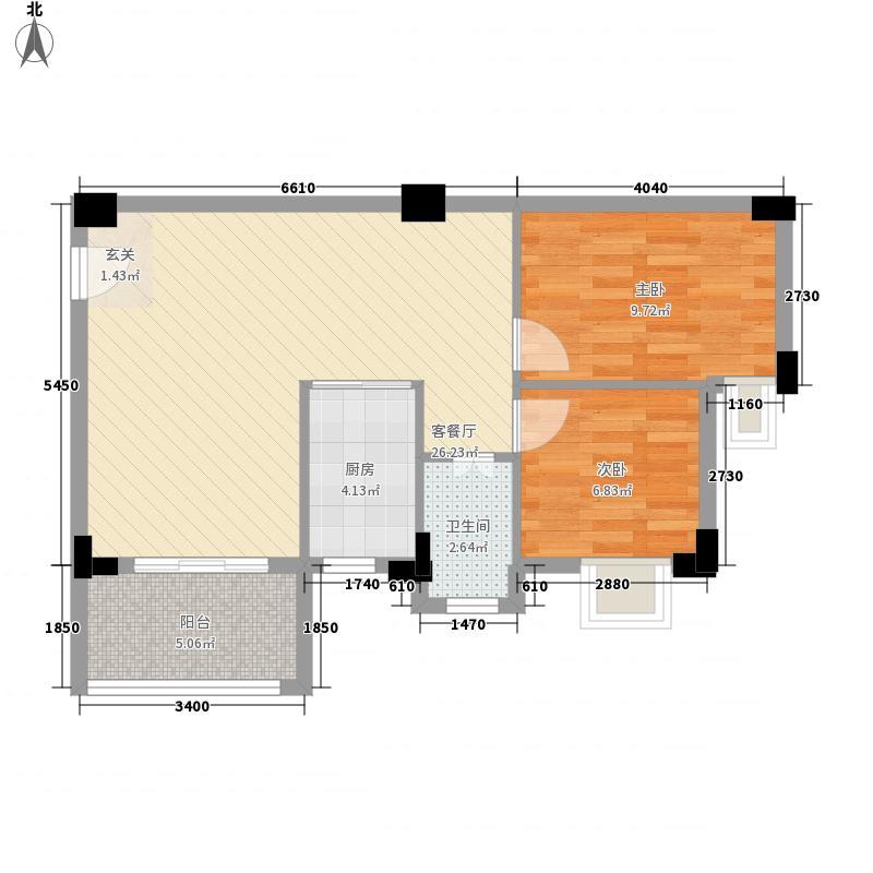 西荣花园68.71㎡西荣花园户型图C户型2室2厅1卫1厨户型2室2厅1卫1厨
