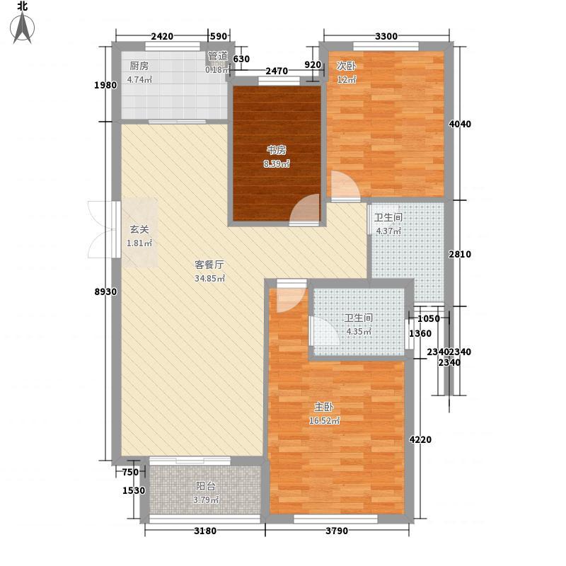 华仑港湾一期2#-4#楼、6#-8#楼高层F户型