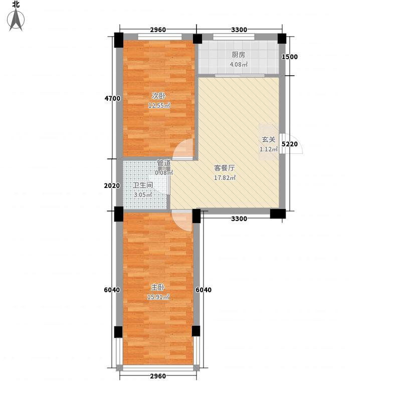 庆军公寓74.67㎡庆军公寓户型图2室1厅1卫1厨户型10室