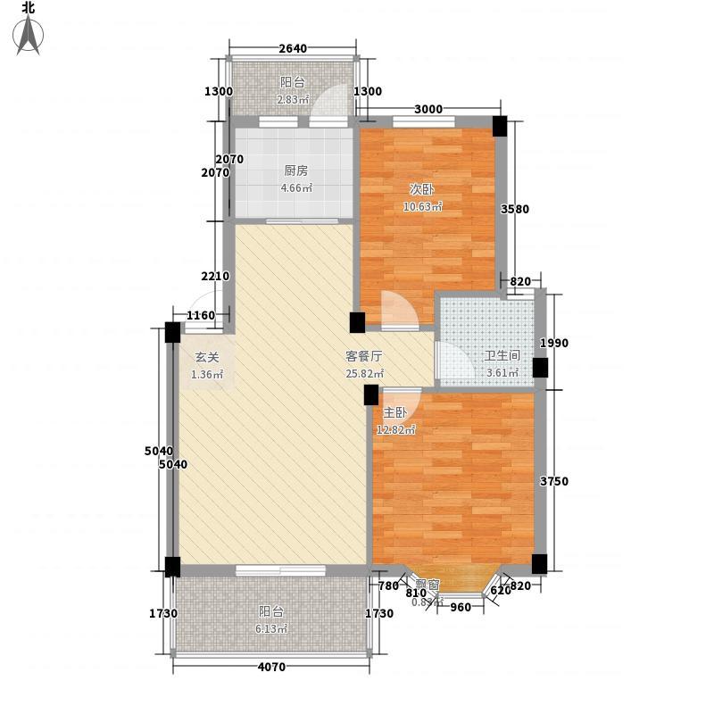 锦泽华府92.00㎡锦泽华府户型图1#楼标准层A1户型2室2厅1卫1厨户型2室2厅1卫1厨
