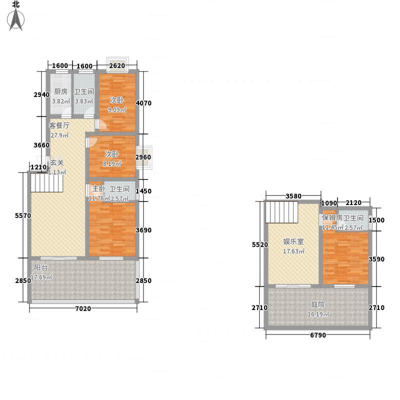 翰林华府翰林华府户型图C1豪华复式-四室两厅两卫户型图户型10室