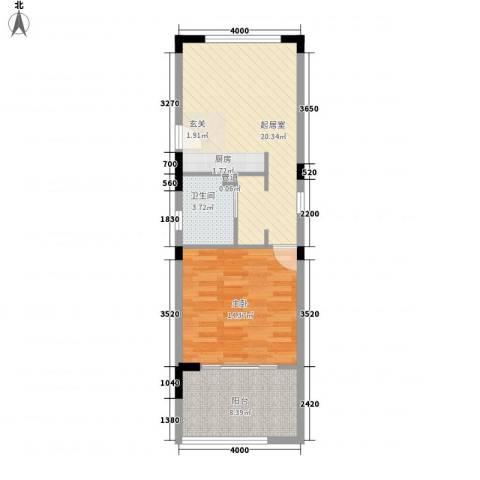 中信庐山西海1室0厅1卫0厨66.00㎡户型图