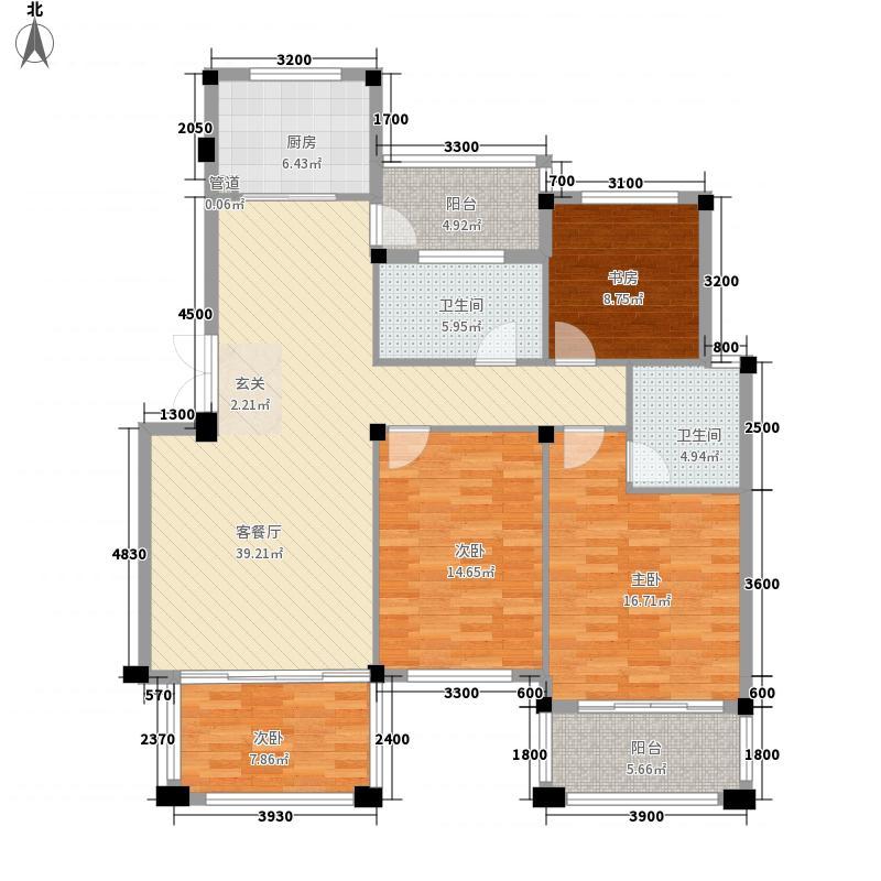 金桥花园4室1厅2卫1厨162.00㎡户型图