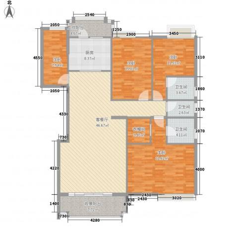 水口雅乐苑4室1厅3卫1厨162.00㎡户型图