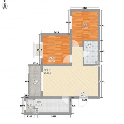轻工小区2室1厅1卫1厨94.00㎡户型图