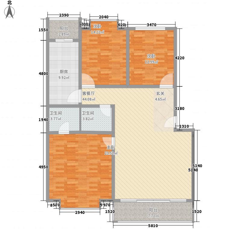 奇峰小筑137.71㎡D户型3室