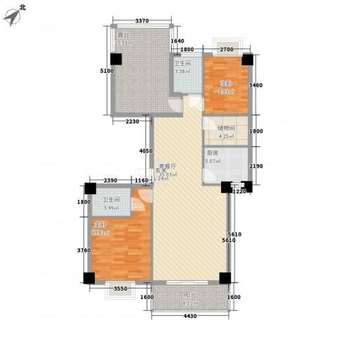 金尚风景(福满园)2室1厅2卫1厨112.00㎡户型图