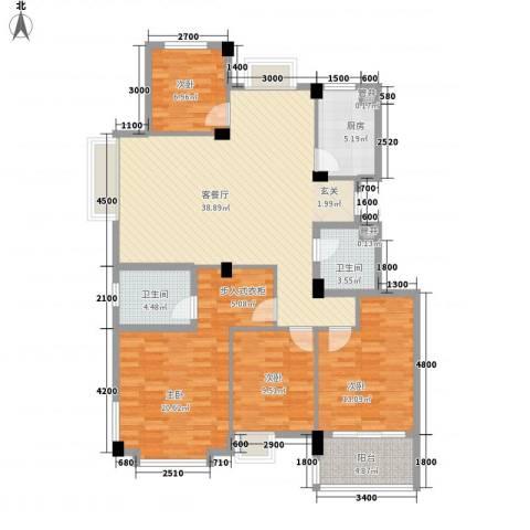 西城十二庭院4室1厅2卫1厨138.00㎡户型图