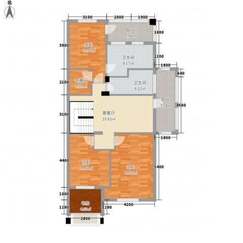 联合世纪新筑玫瑰园4室1厅2卫0厨143.00㎡户型图