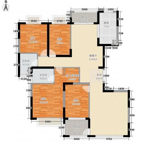 颐和观海4室1厅2卫1厨183.00㎡户型图