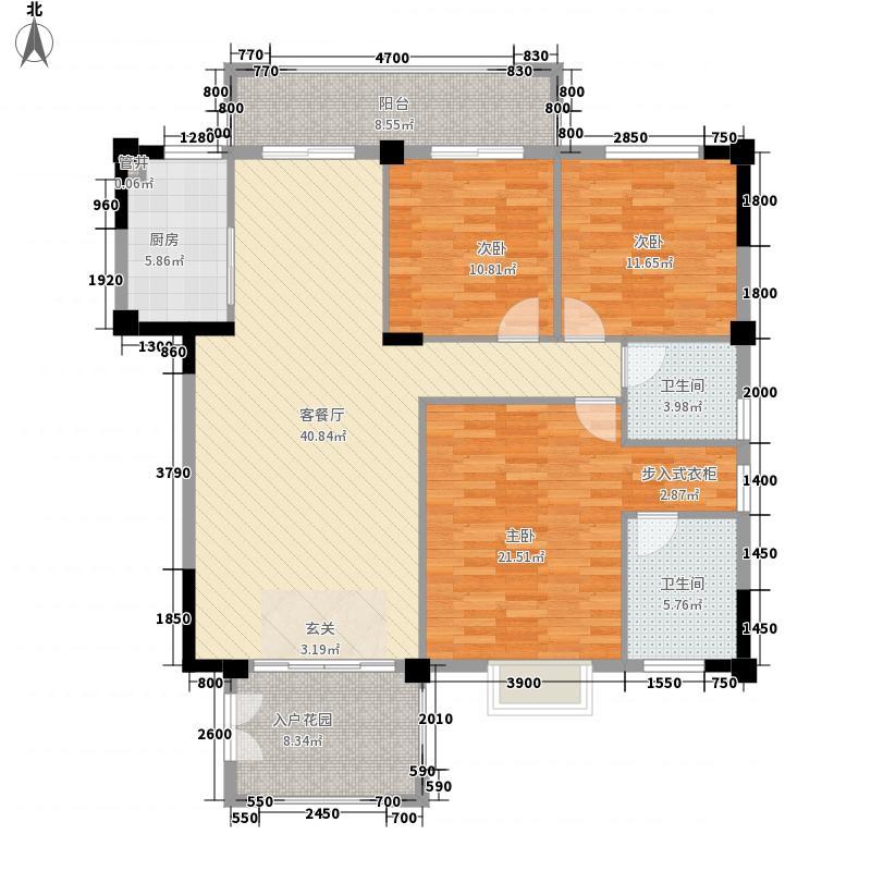 中瑞海西星城143.00㎡16/17#楼户型3室2厅2卫1厨