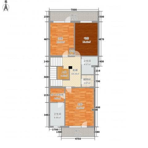 桥华世纪村3室0厅2卫0厨146.00㎡户型图