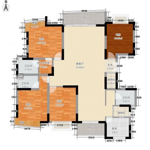 新世纪亦居别墅4室1厅3卫1厨475.00㎡户型图