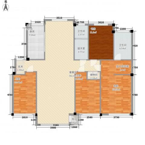 颐和香榭4室1厅2卫1厨169.00㎡户型图