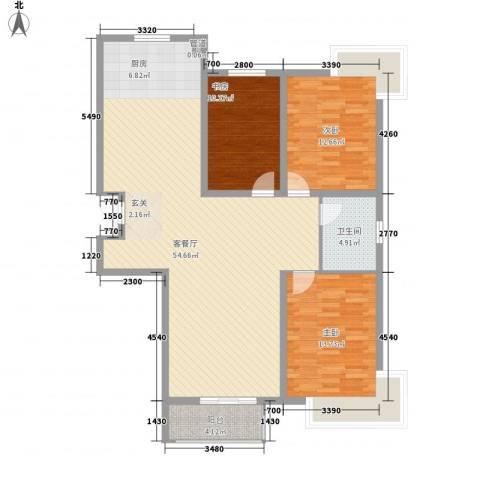 正大江南水乡3室1厅1卫0厨140.00㎡户型图