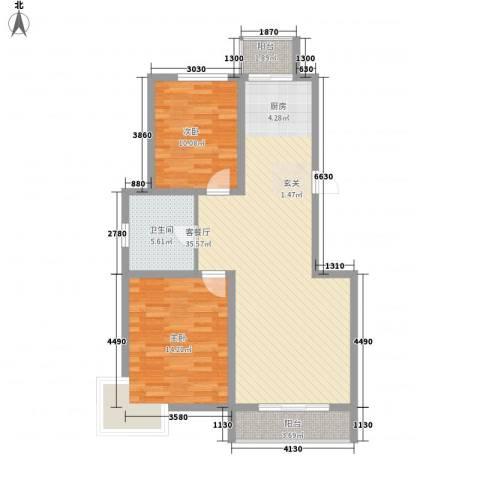 正大江南水乡2室1厅1卫0厨102.00㎡户型图