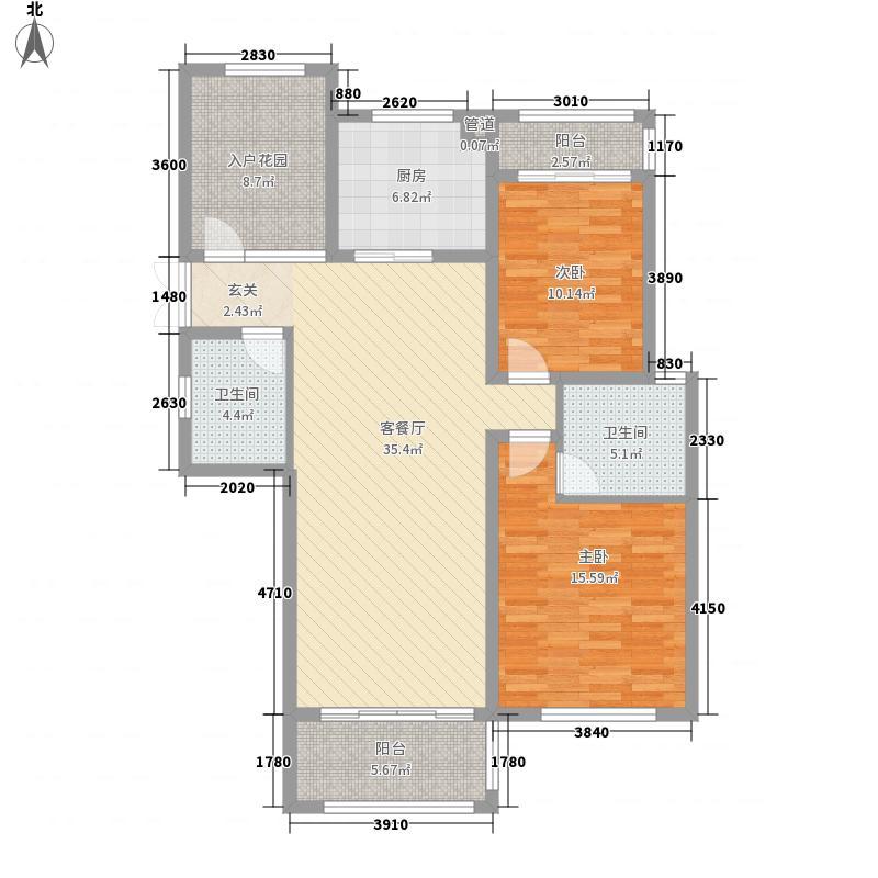 香溢・广苑118.00㎡G10户型3室2厅2卫1厨