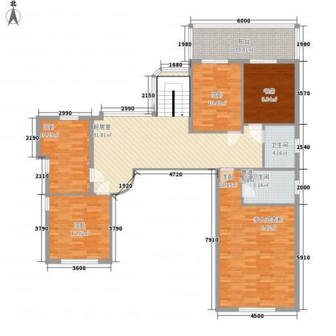 禾祥公寓5室0厅2卫0厨169.00㎡户型图