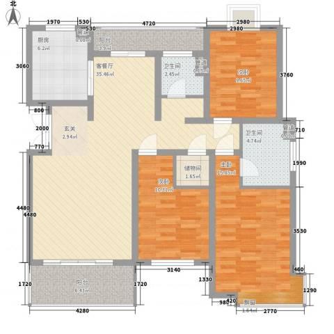 阳光乾城苑别墅3室1厅2卫1厨385.00㎡户型图