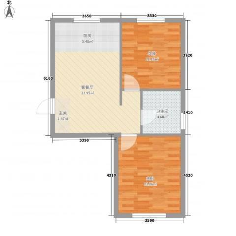 今都小区2室1厅1卫0厨73.00㎡户型图