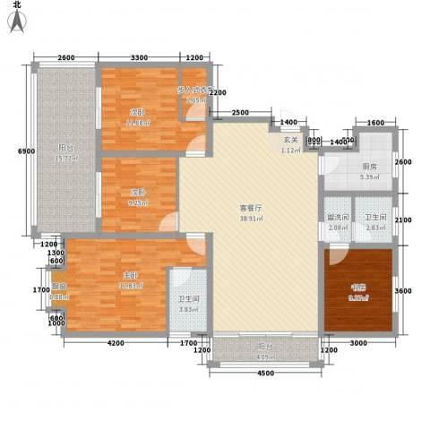 诚德盛世原著4室1厅2卫1厨176.00㎡户型图