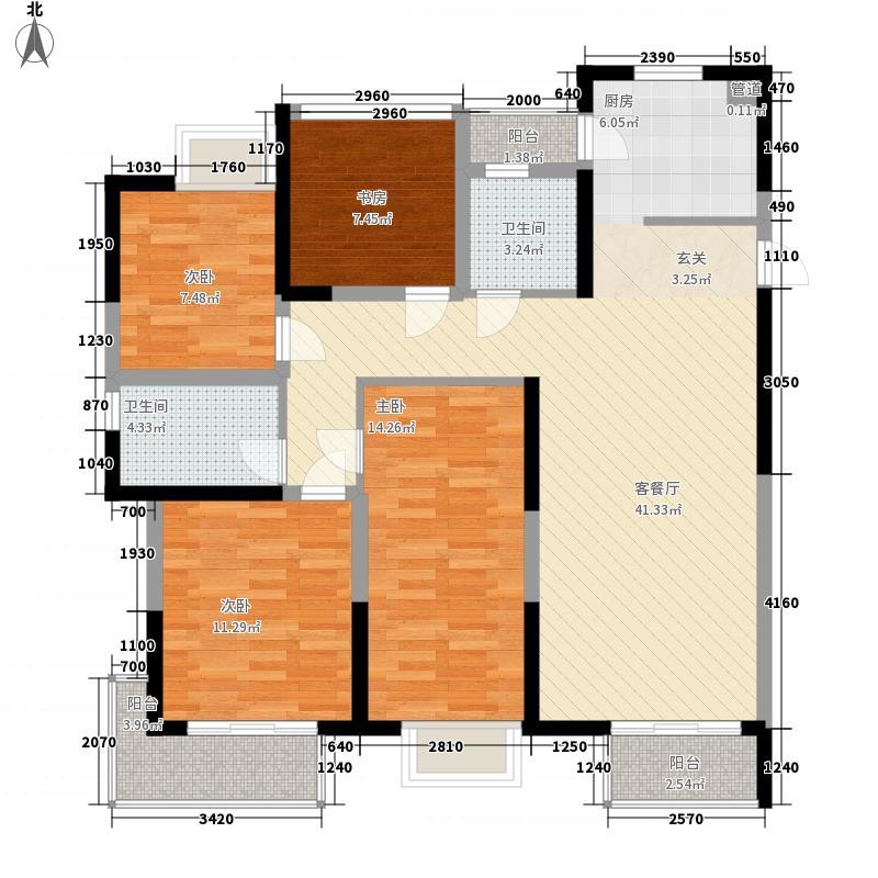 华丽家族太湖汇景4室1厅2卫0厨140.00㎡户型图