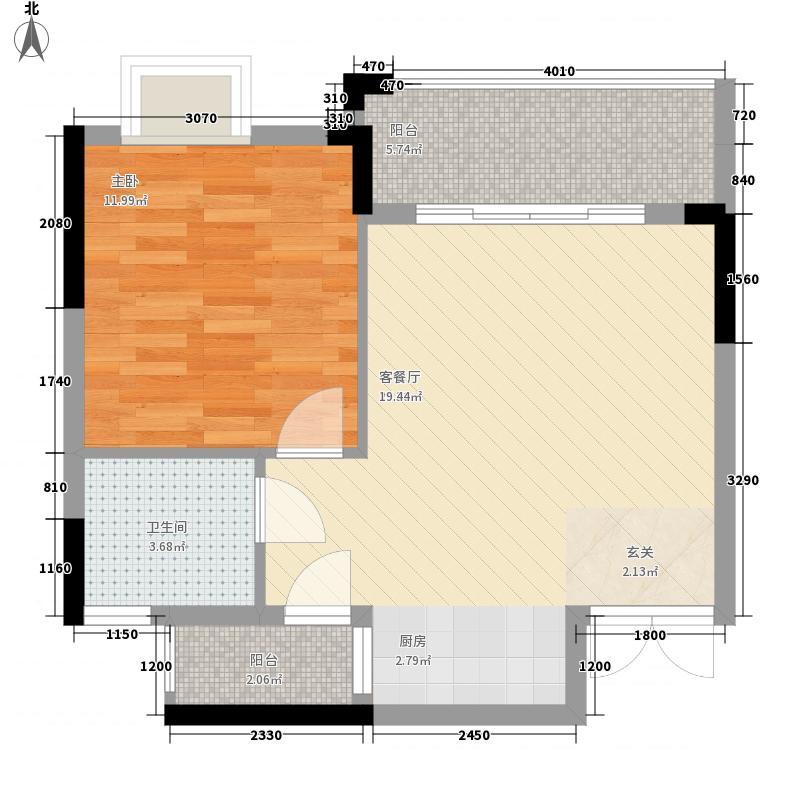 国际西苑6.78㎡5号楼A户型1室1厅1卫1厨