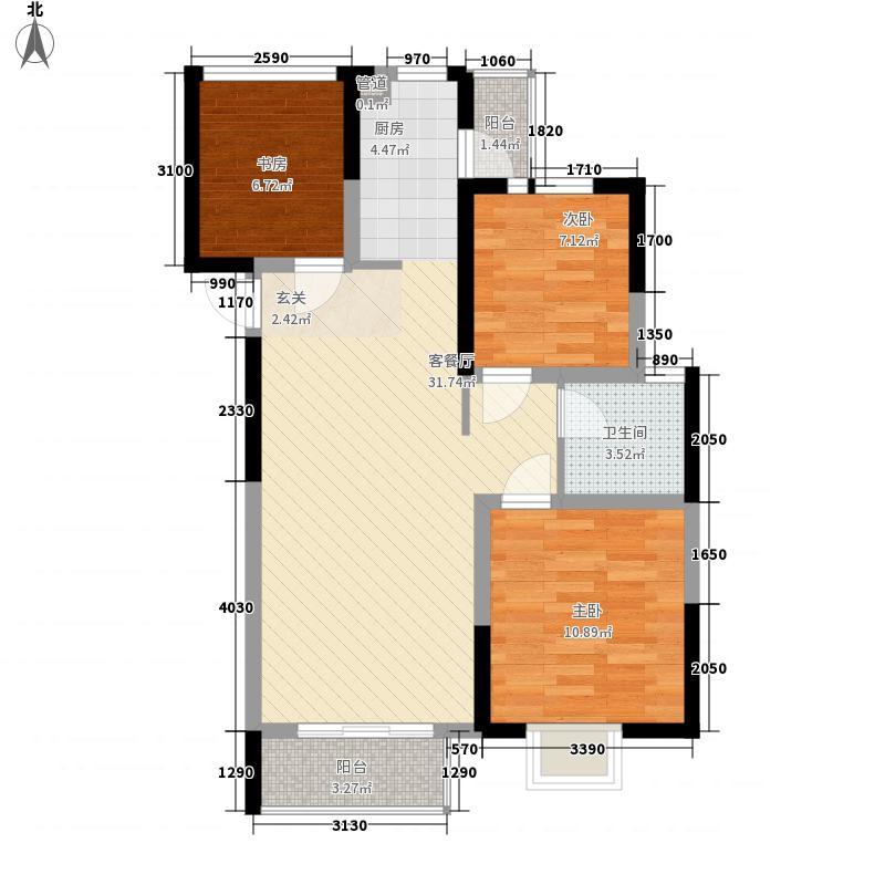 华丽家族太湖汇景二期高层109-116#标准层C户型