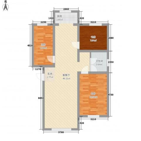 宋都西湖花苑3室1厅1卫0厨130.00㎡户型图