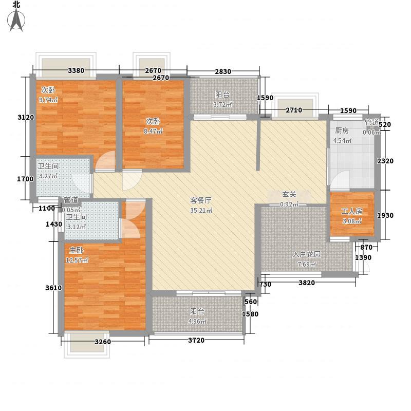 锦嘉・汇景城8号楼1户型137.78㎡四室三厅一厨二卫一花园户型10室