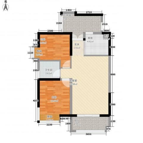 富贵门花园2室0厅1卫1厨99.00㎡户型图