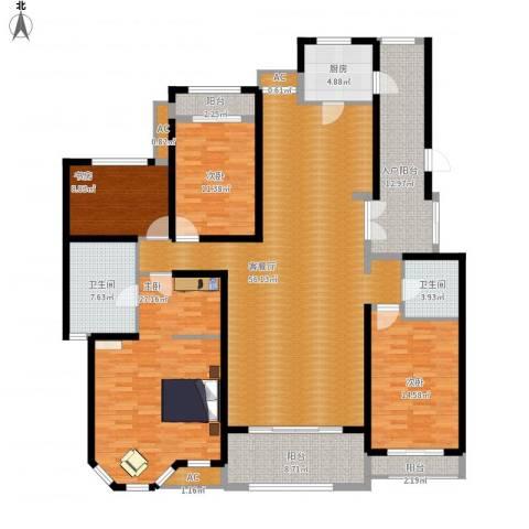 曦城花语4室1厅2卫1厨232.00㎡户型图