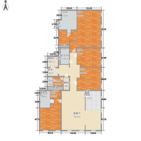 万国城moma5室1厅4卫0厨336.00㎡户型图
