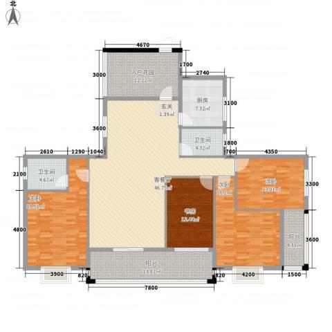 盟科商业广场(阿城)4室1厅2卫1厨213.00㎡户型图