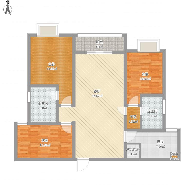 怡馨家园三室两厅两卫112平米