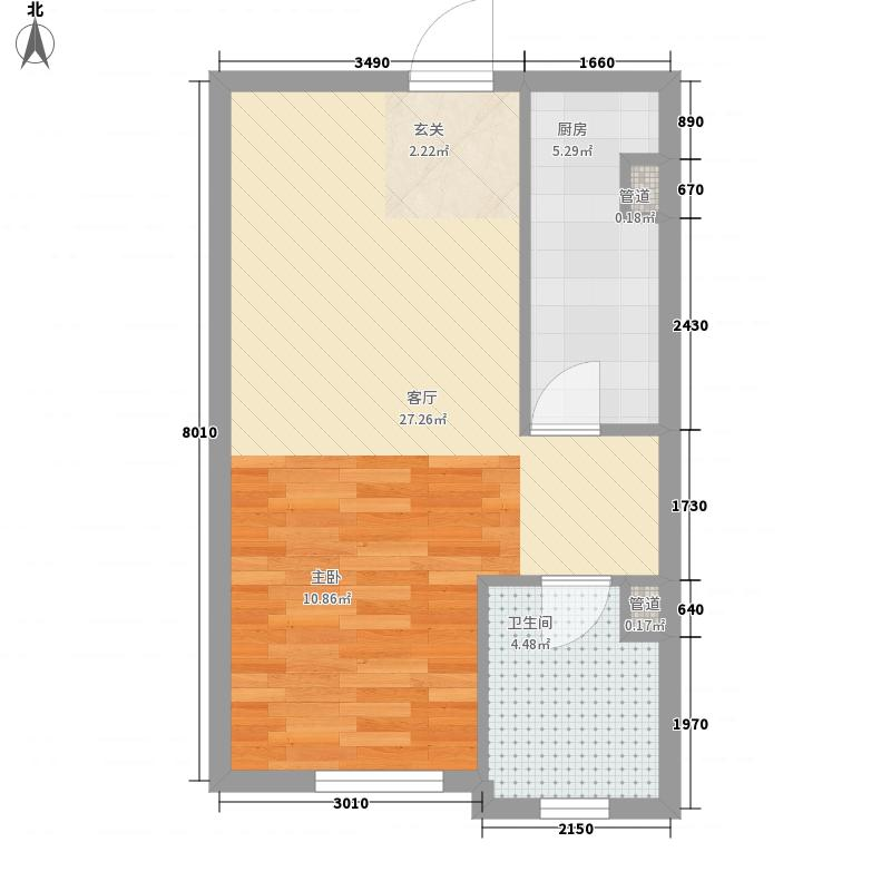 太原时代51.98㎡太原时代户型图户型图1室1厅1卫户型1室1厅1卫