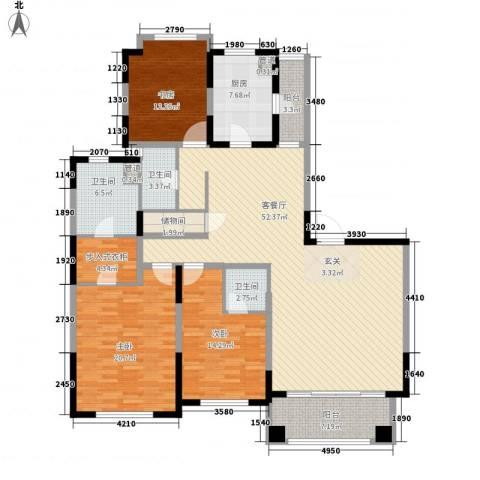 仁恒怡庭公寓3室1厅3卫1厨170.00㎡户型图