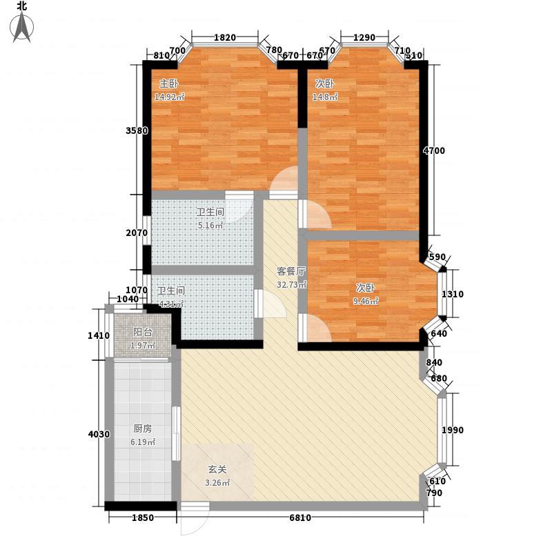 金府花园118.63㎡金府花园户型图户型图3室2厅2卫1厨户型3室2厅2卫1厨