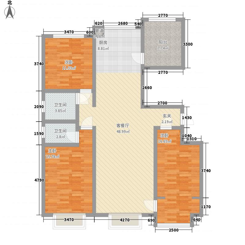 双裕世纪城3室1厅2卫0厨153.00㎡户型图