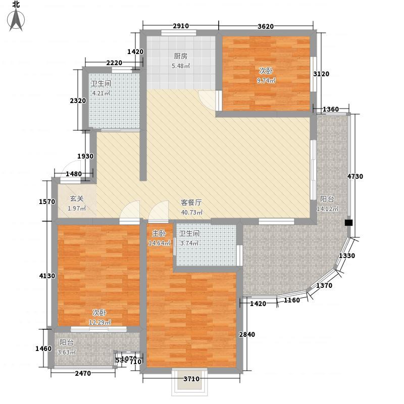水木年华3室1厅2卫0厨145.00㎡户型图