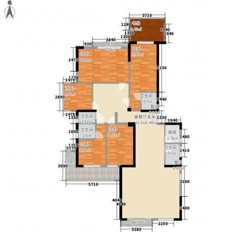 源泉山庄6室1厅4卫1厨224.00㎡户型图
