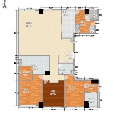 �臣津湾一品3室1厅4卫1厨279.00㎡户型图
