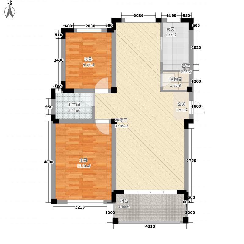 六安路体委大院65.00㎡六安路体委大院2室户型2室